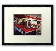 Bazaar in Şarköy,TURKEY Framed Print