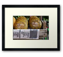 cheese exhibition Framed Print