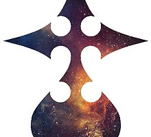 Galaxy Kingdom Hearts Nobody Symbol by ZipZapAttack