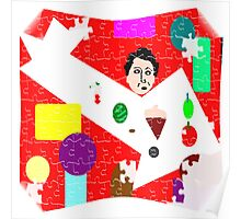 Fruity Chow Puzzle Pieces Abstract Poster