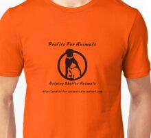 Profits For Animals - Black Logo Unisex T-Shirt