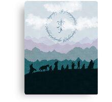 The Fellowship - Misty Mountains Canvas Print
