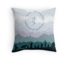 The Fellowship - Misty Mountains Throw Pillow