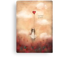 loVe from up above Canvas Print