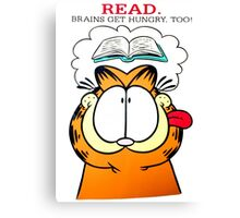 Garfield Hungry Brains Canvas Print