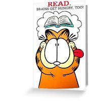 Garfield Hungry Brains Greeting Card
