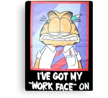 Garfield Work Face On Canvas Print