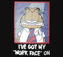 Garfield Work Face On Kids Clothes