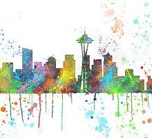 Seattle, Washington Skyline by Marlene Watson