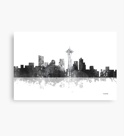 Seattle, Washington Skyline - B&W Canvas Print