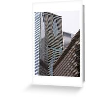 Skyscraper Abstract Greeting Card