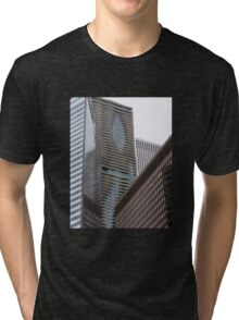 Skyscraper Abstract Tri-blend T-Shirt