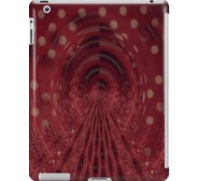 Red, Black & White Brush iPad Case/Skin