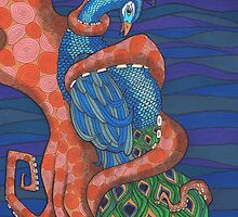 Octopus and Peacock by Vicky Pratt