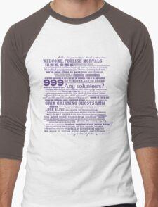 I am your host, your Ghost Host. Men's Baseball ¾ T-Shirt