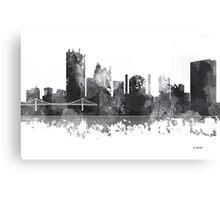 Toledo, Ohio Skyline - B&W Canvas Print