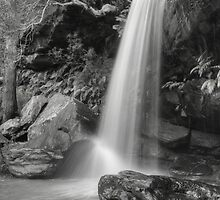 Girrakool Waterfall In Black & White by Michael Matthews