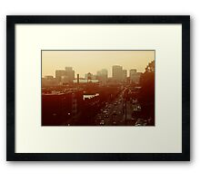 The City Lights-View from Richmond, Va Framed Print