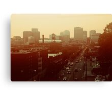 The City Lights-View from Richmond, Va Canvas Print
