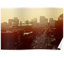 The City Lights-View from Richmond, Va Poster