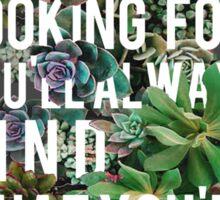 Nevermind Typography Sticker
