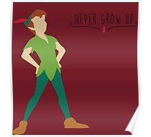-Peter Pan Never grow up Poster
