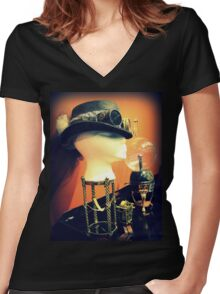 Steampunk Display 1.1 Women's Fitted V-Neck T-Shirt