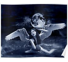 playing with the moon Poster