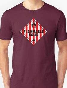 Flammable Solid Unisex T-Shirt