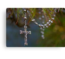 Nana Elsie's rosary beads Canvas Print