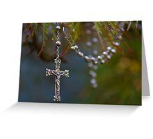 Nana Elsie's rosary beads Greeting Card