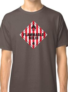 Flammable Solid Black Classic T-Shirt