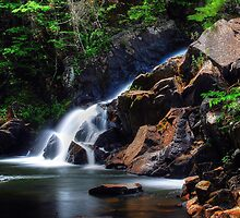 Northwest Bay Brook Falls - Bolton Landing NY by Paul Swiatkowski