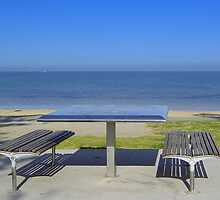 Elwood Beach - picnic table - Victoria - Australia by bayside2