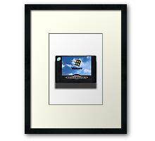 16-bit vaporwave Framed Print