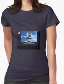 16-bit vaporwave Womens Fitted T-Shirt