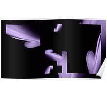 Purple & Black Poster