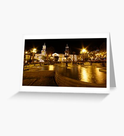 Friday Night Lights Greeting Card