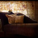 Grunge Chaise with Hat. by Lynne Haselden