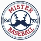 Mr. Baseball Sticker by Dillon Finley