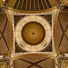Church rotunda from inside looking up with columns by Matt Lipa