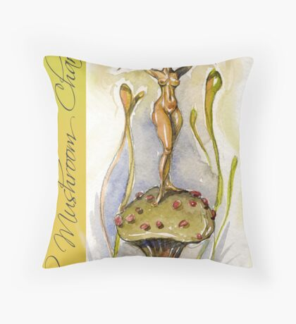 The Mushroom Charmer Throw Pillow