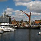 The Victor Sets Sail, Ipswich Waterfront by wiggyofipswich