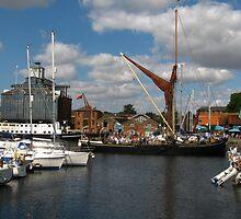 The Victor Sets Sail, Ipswich Waterfront by wiggyofipswich