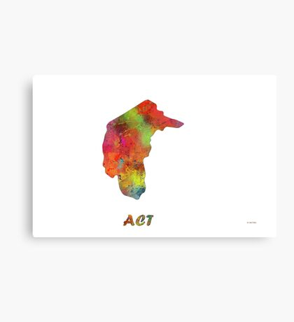 ACT, Australia State Map Canvas Print