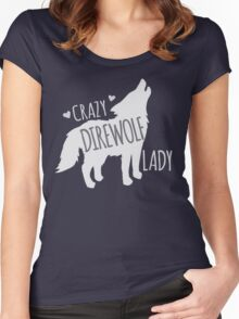 CRAZY Direwolf lady Women's Fitted Scoop T-Shirt