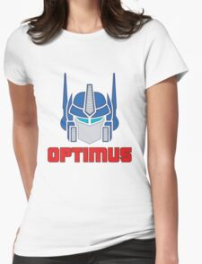 Optimus Prime Logo Womens Fitted T-Shirt