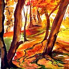 Autumn Forest - Trees by  Linda Callaghan