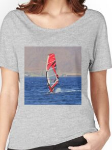 Windsurfing in a red sea Women's Relaxed Fit T-Shirt