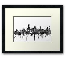 Adelaide, South Australia Skyline - B&W Framed Print